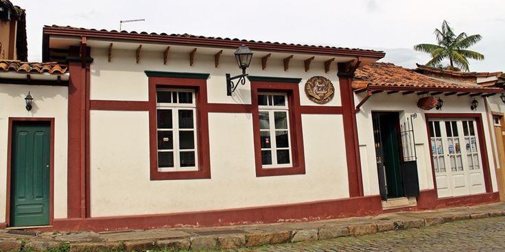 Fachada da Pousada do Ouvidor, em Ouro Preto.