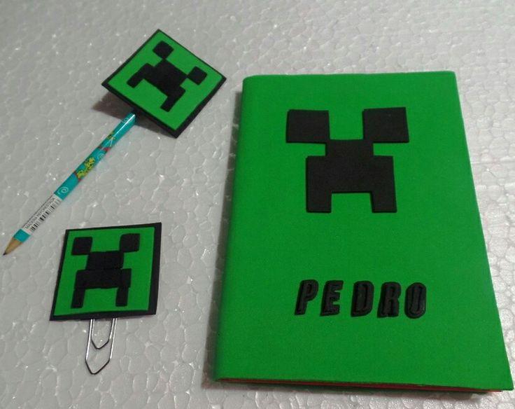 Caderno Minecraft com nome