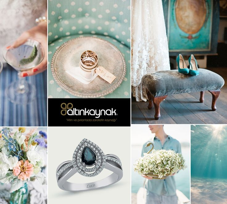 #Blue #Wedding #Ideas #Diamond #Jewellery #Mavi #Düğün #Fikir #Pırlanta #Mücevher