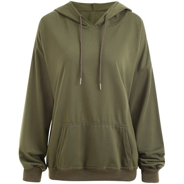 Cheap Army Green XL Tops online, Gamiss offers you Plus Size Drop Shoulder Plain Hoodie with Pocket at $14.51, we also offer Wholesale service.