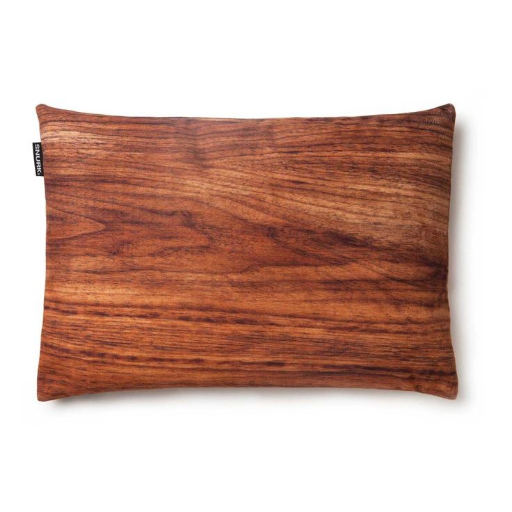 Snurk Beddengoed Sierkussenhoes 'Walter walnut'. Bruin hout 35x50cm. Geweldig mooie warme kleur!
