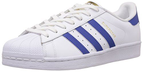 adidas Superstar Foundation, Unisex-Erwachsene Sneakers, Weiß (Ftwr White/Collegiate Royal/Ftwr White), EU 42 - http://on-line-kaufen.de/adidas/42-eu-adidas-superstar-foundation-unisex