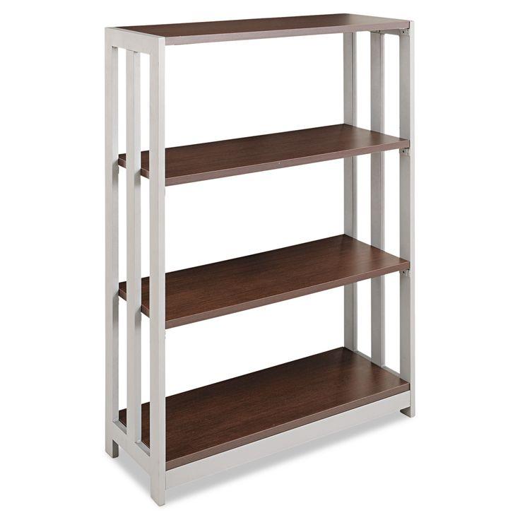 Linea Italia Trento Line Bookcase 3-Shelf Mocha