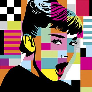 Oh Audrey, pop art looks good on you.