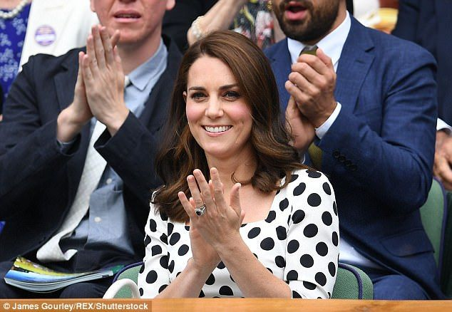 The keen tennis fan has revealed that she was ordered to stay away from Andy Murray's fina... July 3 2017 white black-polka dot dress, black sandals, white handbag purse. What Kate wore