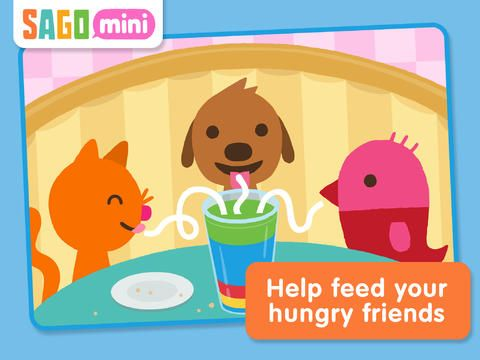 Sago Mini Pet Cafe - another one from the Sago Sago stable that Tijs loves. No in-app purchases and super simple navigation. Bright and colourful fun and games.