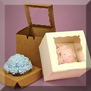 Cupcake Boxes - wholesale. Great idea! To-go cupcakes for guests!