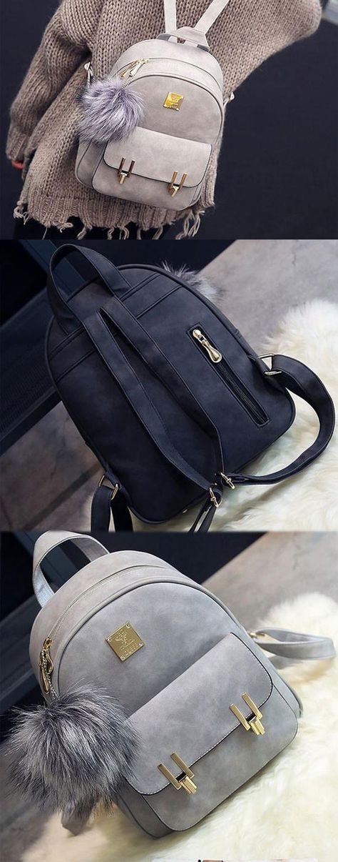 Fashion Frosted PU Zippered School Bag With Metal Lock Match Backpack for big sale ! #school #college #student #Bag #book #backpack #rucksacck #women #girl