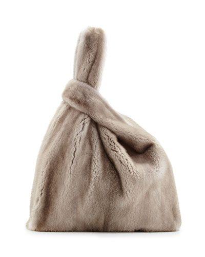 Brunello Cucinelli / Mink Fur Satchel with Pull-Through Straps. I have no words...