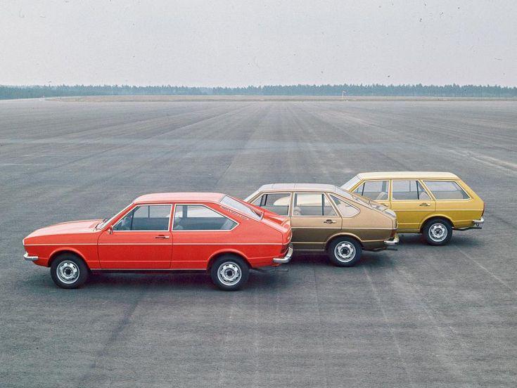 The full Volkswagen Passat line-up in 1973.