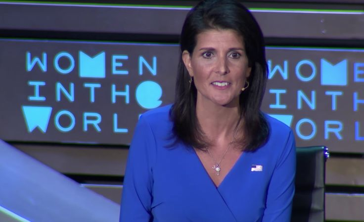 The orange President Trump's U.N. Ambassador Nikki Haley was being interviewed at the Women in the World summit by MSNBC's Greta Van Susteren last night in front of a sizable audience. The two women were there to discuss these first few months on the...
