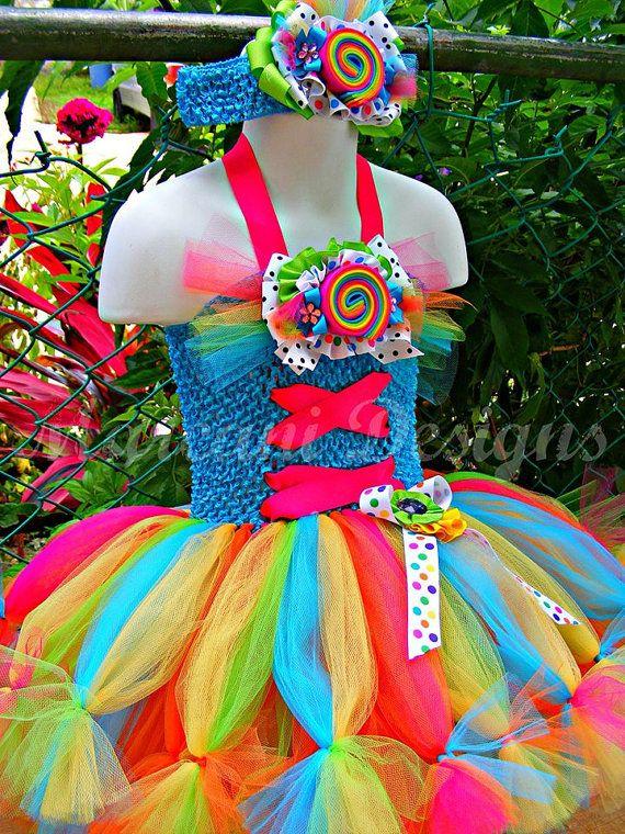 Sweet Candy Couture Birthday Petti-Tutu Dress & Headband. BIRTHDAY TUTU on Etsy, $70.00