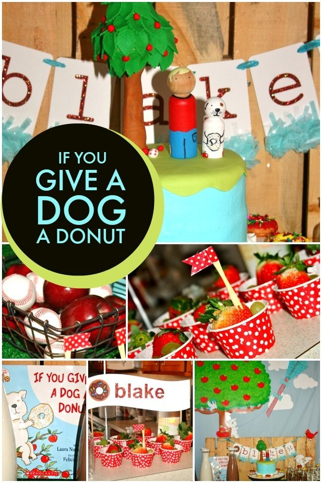 If You Give a Dog a Donut Puppy Birthday Party - Spaceships and Laser Beams