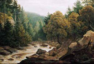 Lesní potok-Antonín Mánes
