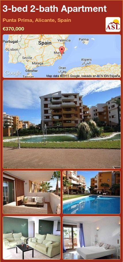 3-bed 2-bath Apartment in Punta Prima, Alicante, Spain ►€370,000 #PropertyForSaleInSpain
