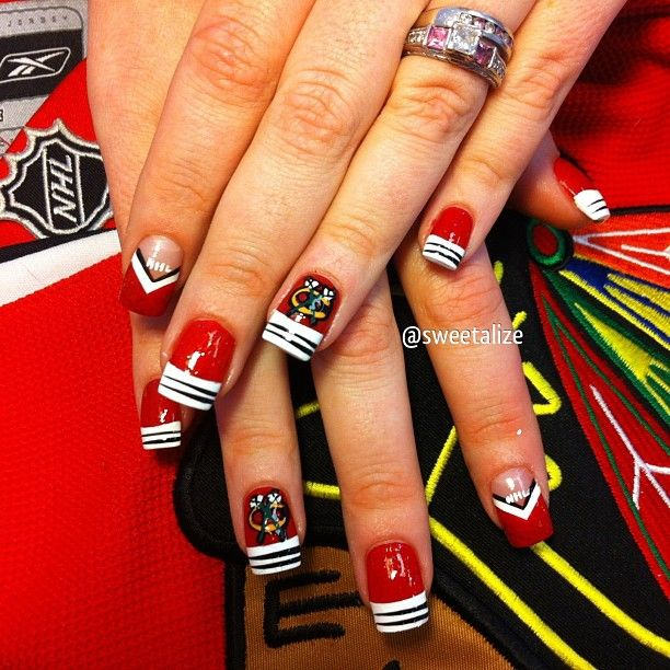 Blackhawk nails!View this on my Instagram here.