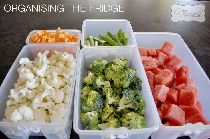 Organising the fridge