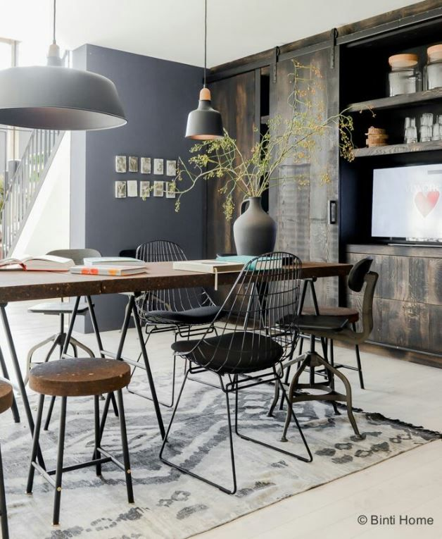 Modern Industrial Dining Chairs Nel 2020 Sale Da Pranzo Moderne Arredamento Industriale Moderno Arredamento