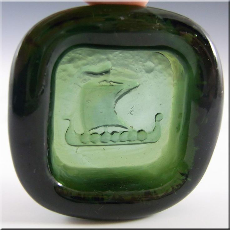 PLUS Glashytta 1970s Green Glass Bowl - Richard Duborgh - £19.99