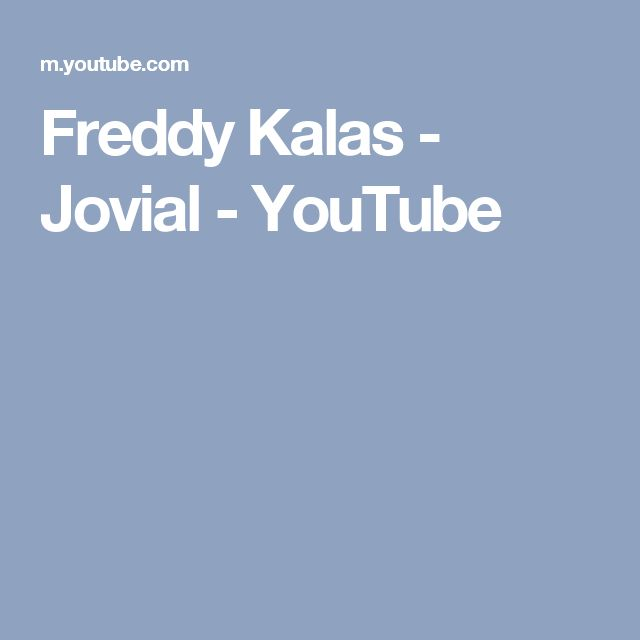 Freddy Kalas - Jovial - YouTube