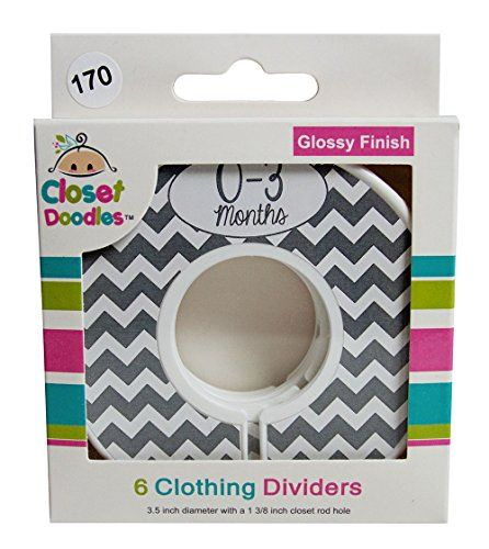 baby clothing | Closet Doodles Gray Chevron Gender Neutral Baby Clothing Dividers Set of 6 Fits 1.25inch Rod (Ranged Months)