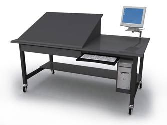 Drafting Table/Workstation Combo - www.formaspace.com