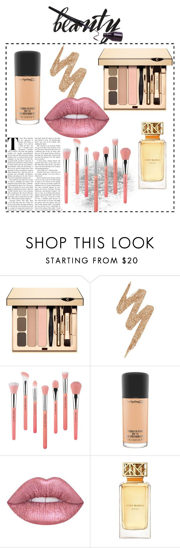 """beauty essentials"" by edithhlatshwayo on Polyvore featuring beauty, Urban Decay, Bdellium Tools, MAC Cosmetics and Tory Burch"