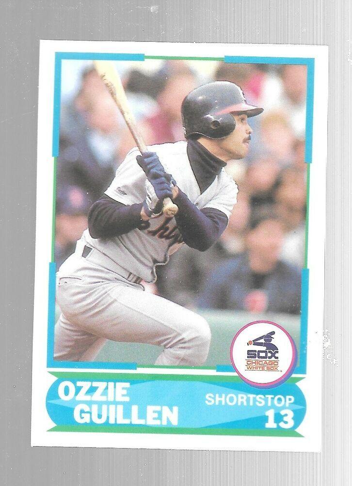 1988 score ozzie guillen 21 young superstar chicago white