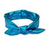 Croshka Designs Top Knot Metallic Headband for Baby Girls - Metallic Blue www.babyheadbands.co.za