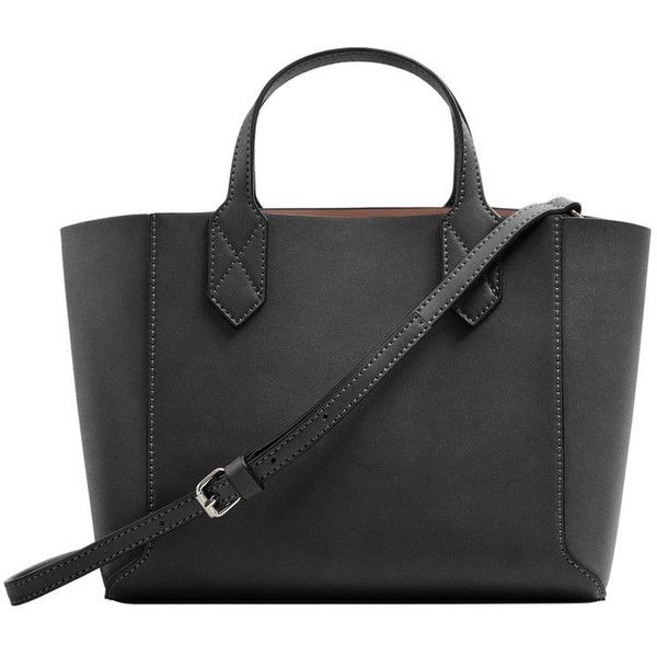 Pebbled Effect Shopper Bag (€20) ❤ liked on Polyvore featuring bags, handbags, tote bags, shopper handbag, snap closure purse, pebbled leather tote, mango tote bag and pebbled leather purse