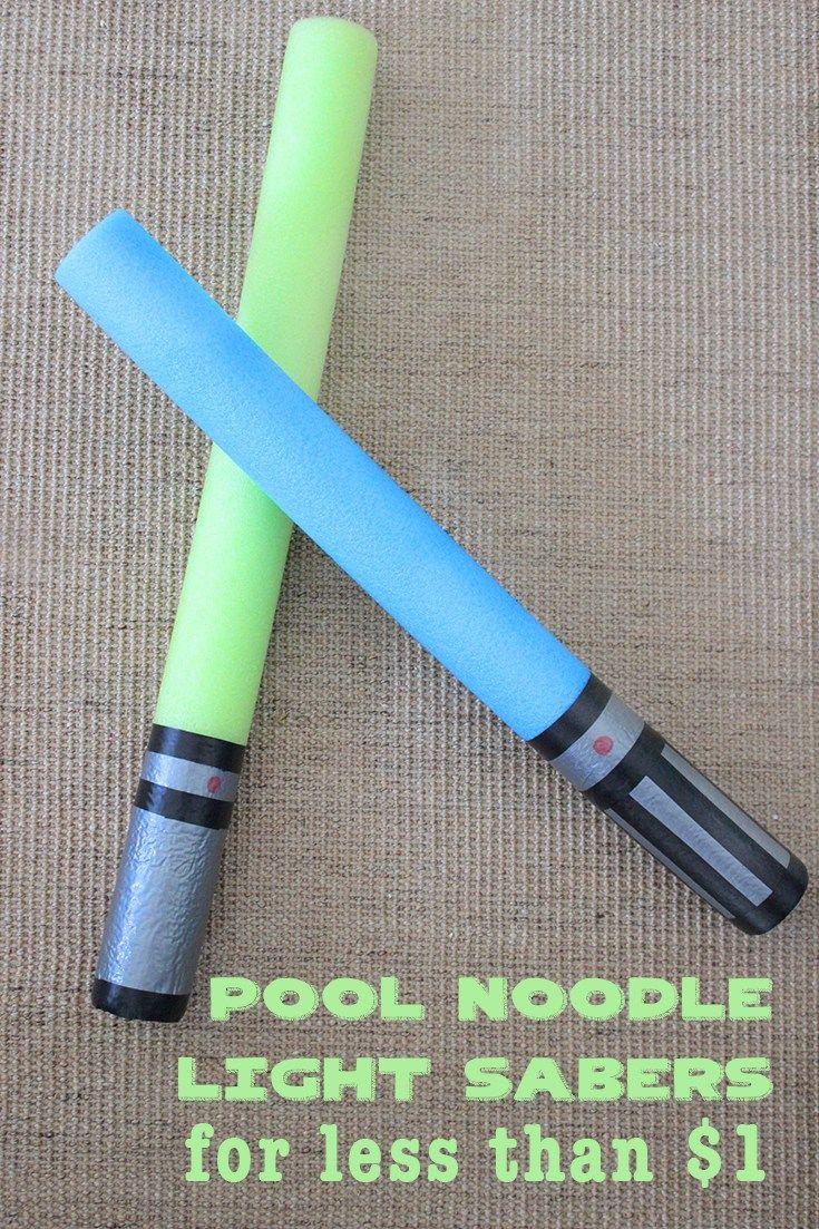Pool Noodle Light Saber for less than $1