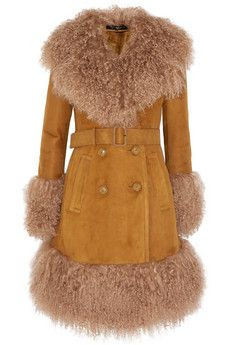 Gucci Belted shearling coat   NET-A-PORTER