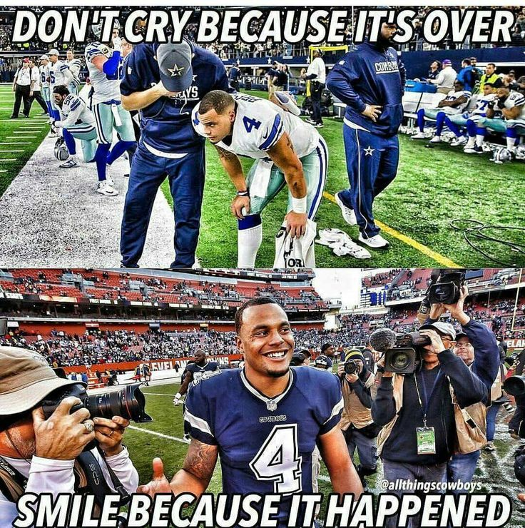 Absolutely! This guy and the rest of the cowboys gave us a great season, so we should be proud. Things look bright for the future!