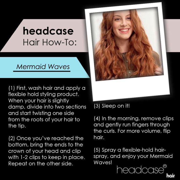 Create beautiful mermaid waves in your sleep. #hairhowto #mermaidwaves #hairtutorial