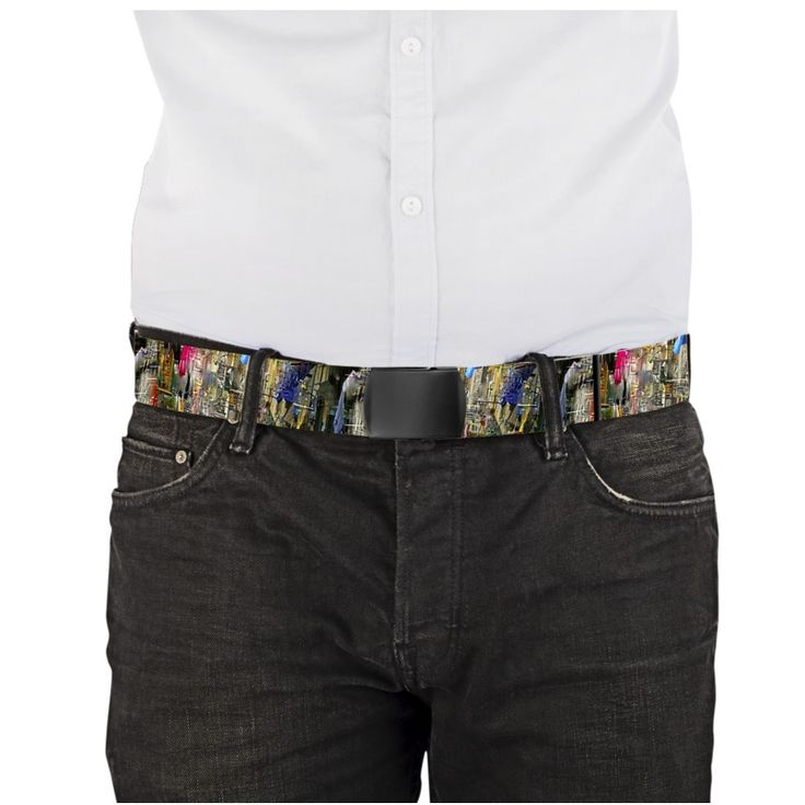 """""""Napoli/Spagnoli""""  - Length 120 cm X 3.8 cm Choice of buckle: black or metal. The belts are printed on both sides."""