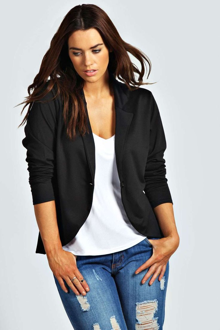Astrella One Button Ponte Blazer alternative image