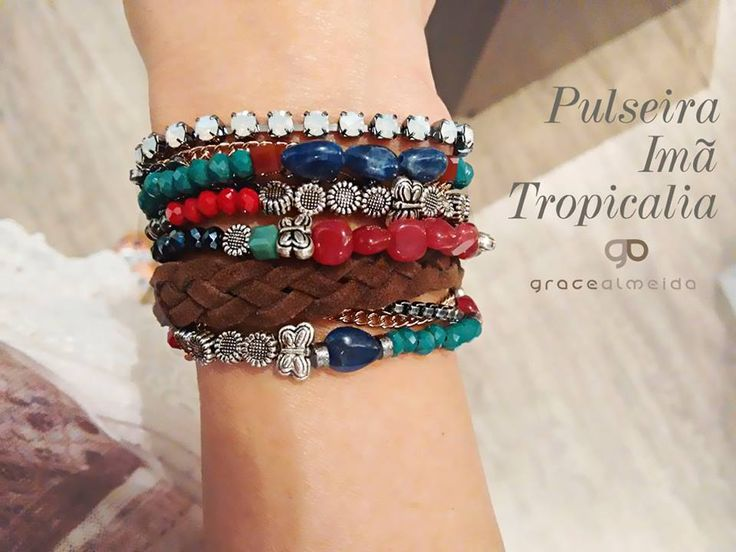 Tons fortes são uma ótima pedida para animar as produções de verão! PULSEIRA IMÃ TROPICALIA Na loja virtual: www.lojagracealmeida.com.br #pulseirismo #fashion #jewelry #summer #acessories #deluxe