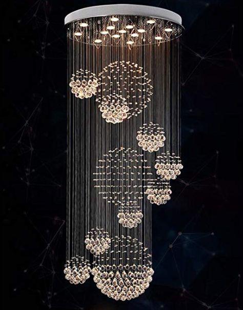 Ceiling <b>Lights</b> Living Room Bedroom LED <b>Crystal Chandelier</b> ...