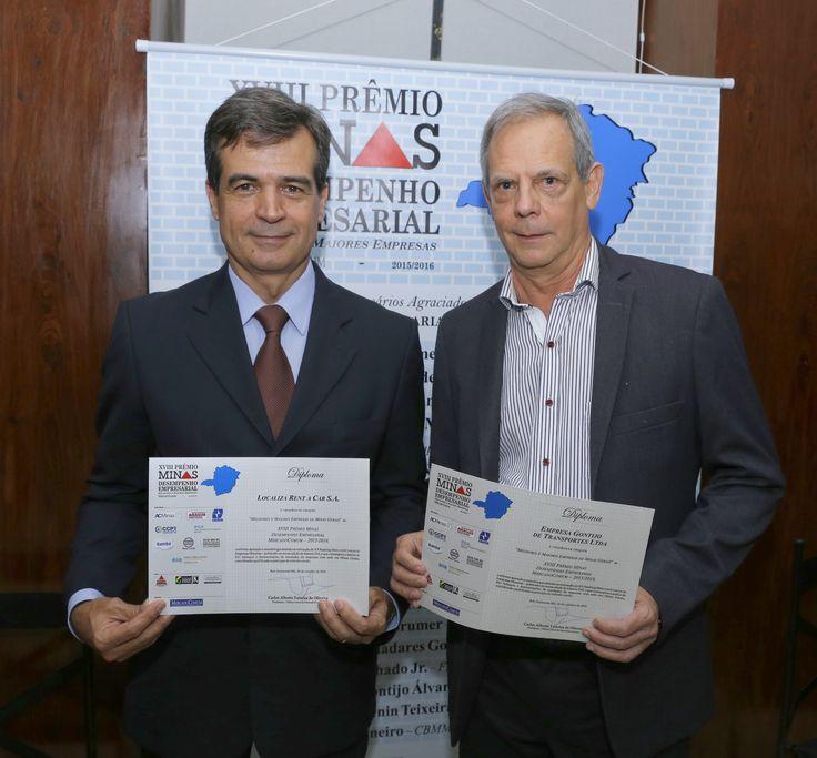 Paulo Henrique Pires, diretor de vendas da Localiza e Calistrato Dias Filho, Assessor da diretoria da Gontijo