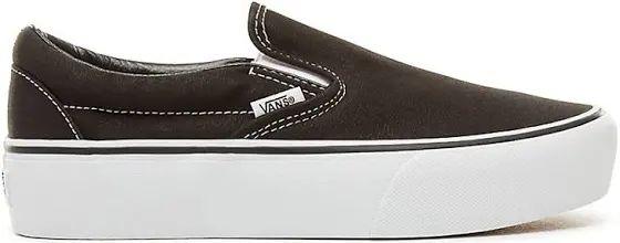 VANS Classic Slip-on Platform (black) Women Black, Size 5