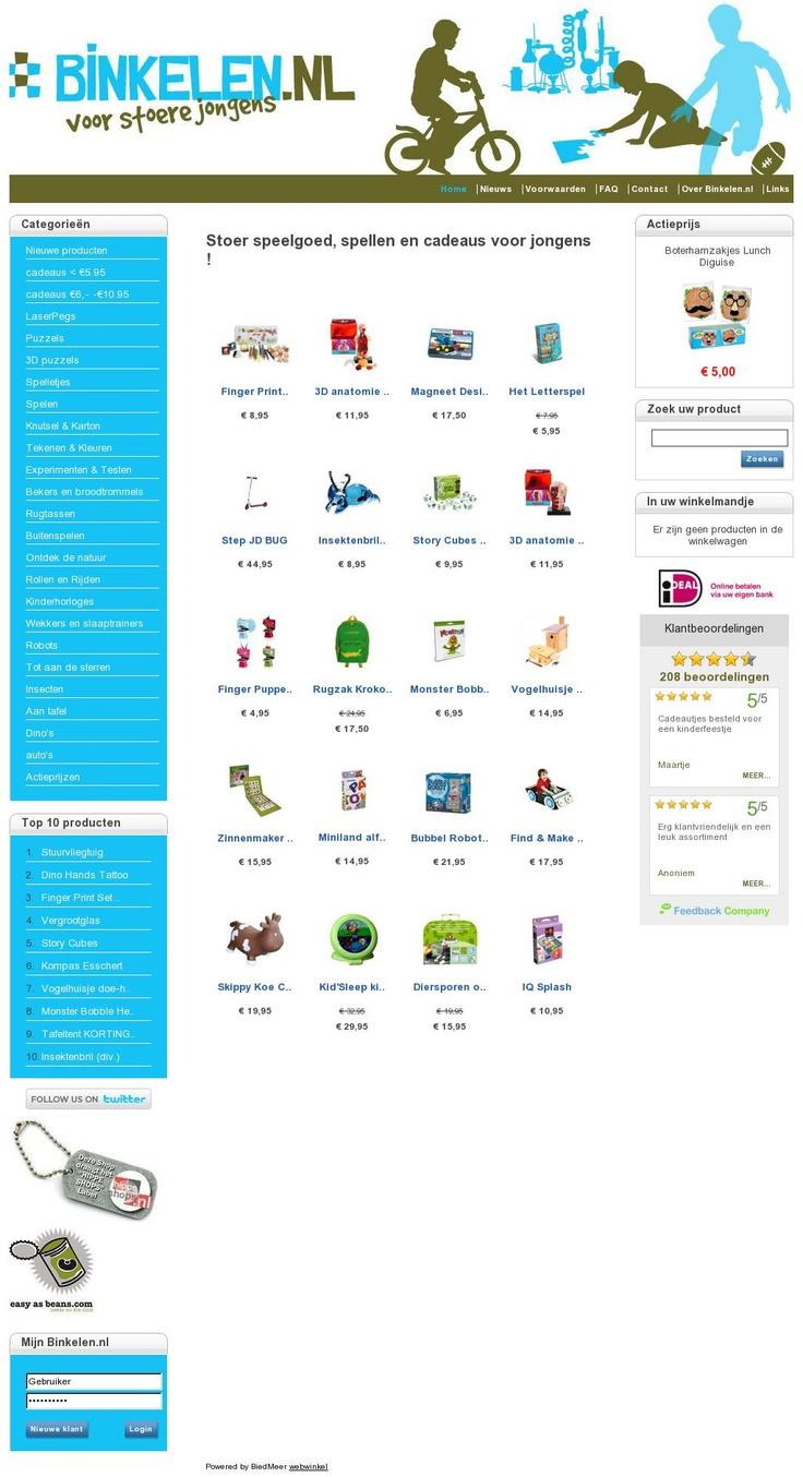 Binkelen http://www.binkelen.nl #webshop met allemaal leuke dingen voor jongens