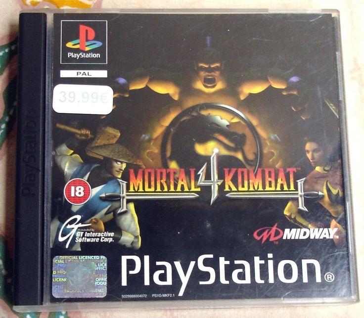 Mortal Kombat 4 Sony Playstation - 1 PSX PAL (Euro Release)