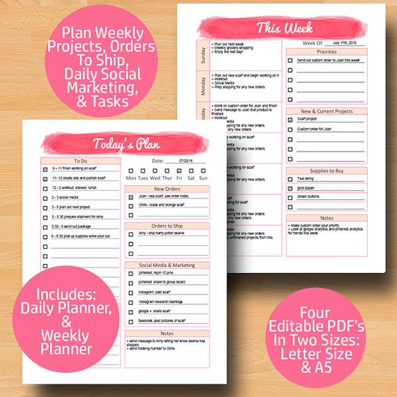 business planner printable a5 business plan direct sales planner page editable bussiness planner