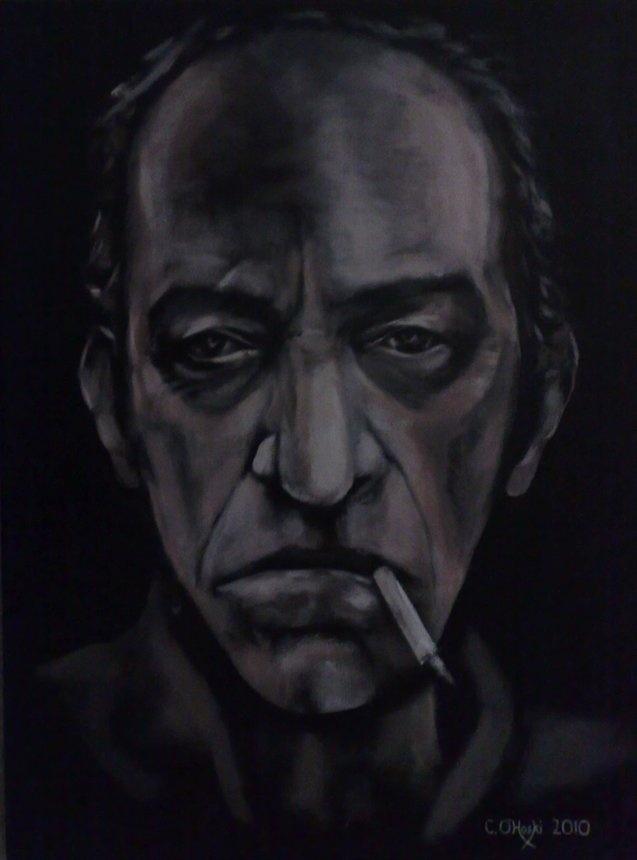 """Tobacculosis""  18"" X 24""  Acrylic On Canvas    Christopher O'Hoski  www.facebook.com/christopherohoski"