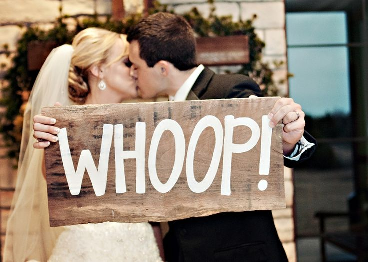 Whoop! Incorporating a little Aggie spirit into the wedding day.
