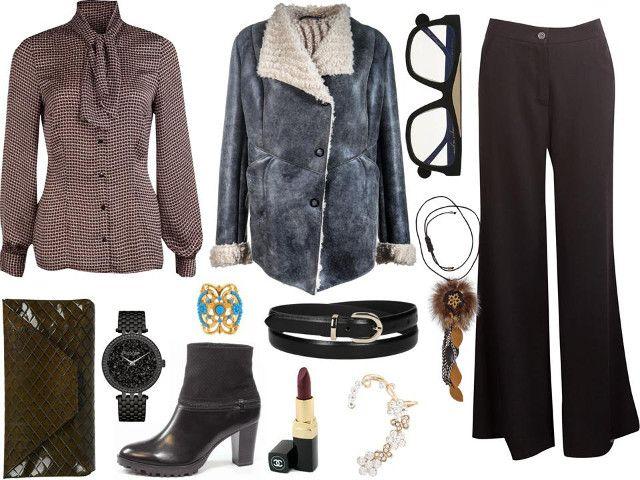 Koszula- Bialcon, kurtka- Boca, naszyjnik- Gena, spodnie- Rabarbar, torba- Antbag by Ania, buty- Capricel, zegarek/pasek/pierścionek/okulary/kolczyk- Tkmaxx, szminka- Coco Chanel
