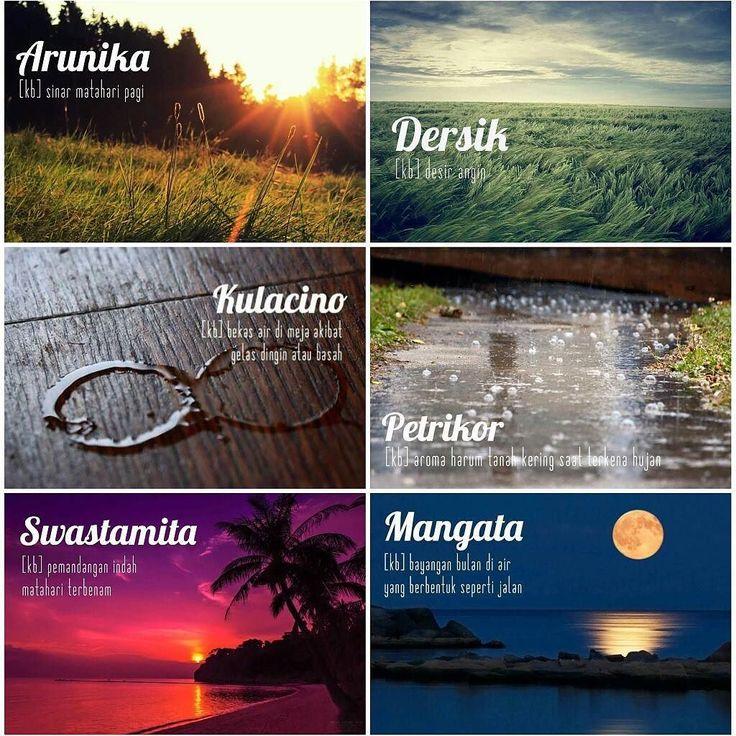 Asyiknya bahasa Indonesia.  Ditemukan di akun twitter #ivanlanin dari #khresna.  #duniaharustahu #ohpetrikor