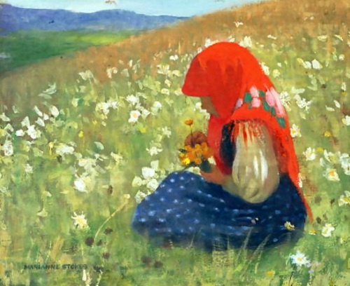 Girl Of The Tatra, Marianne Stokes (1855 – 1927, Austrian-born English), I AM A CHILD-children in art history-blog
