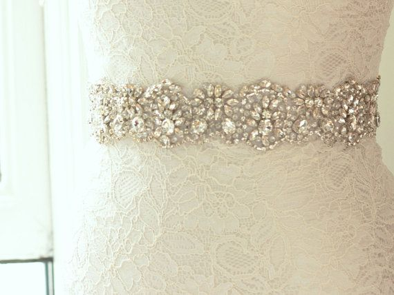 Bridal Belt Crystal Beaded Wedding Sash Rhinestone Asteria