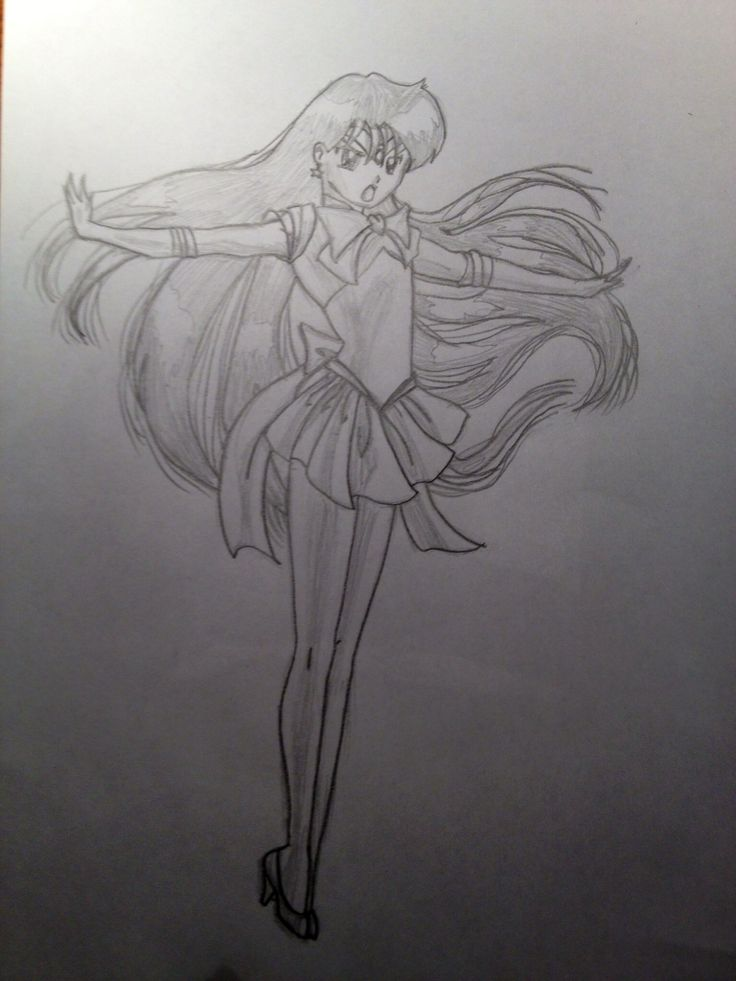 This is Sailor Mars from Sailor Moon.